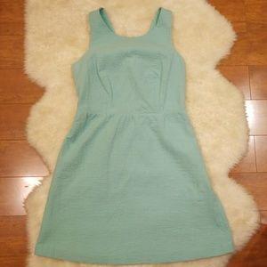 NWT LOFT Turquoise Summer Dress Size 4